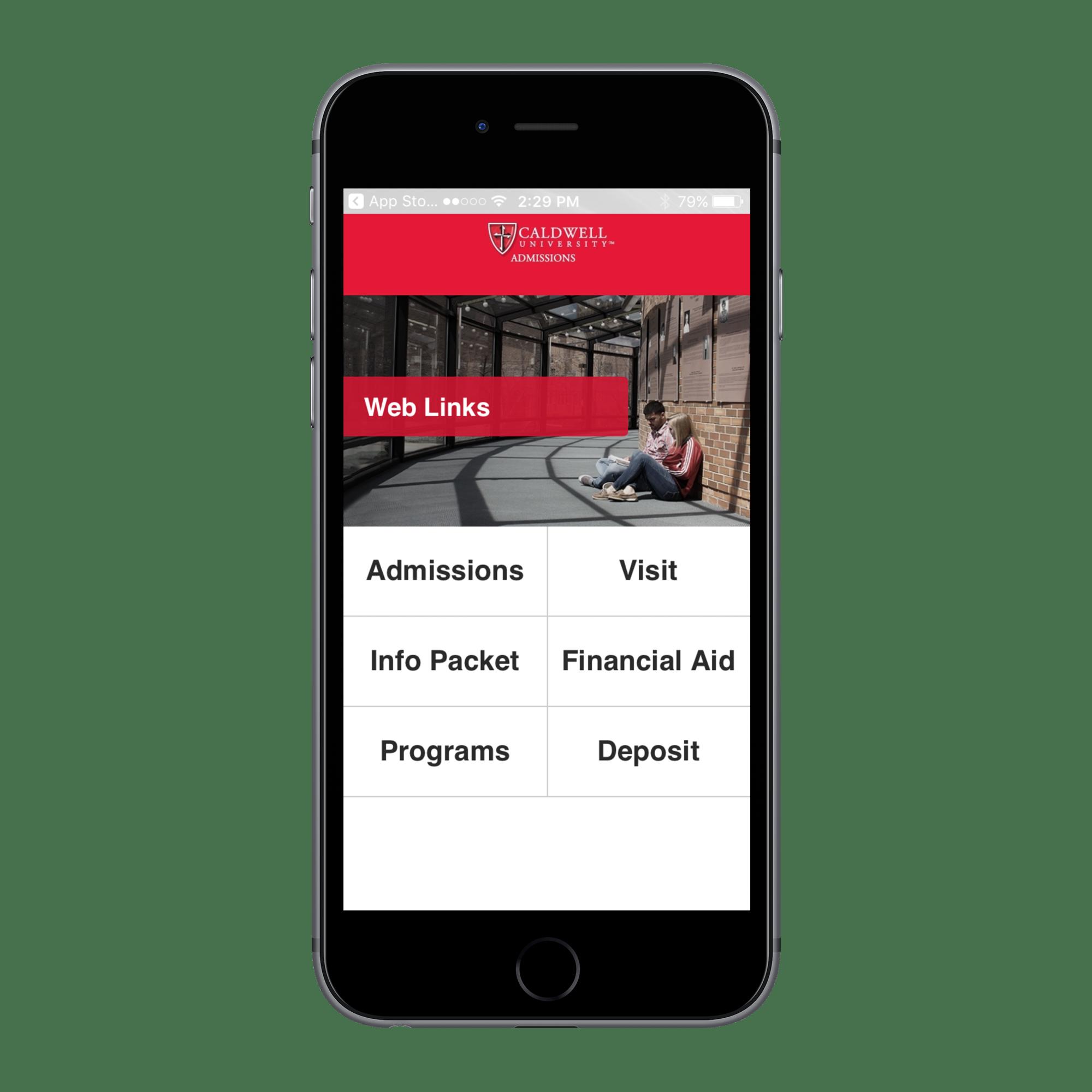 Caldwell Mobile App Screenshot